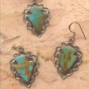 Gorgeous Sasspurilla sterling  turquoise set